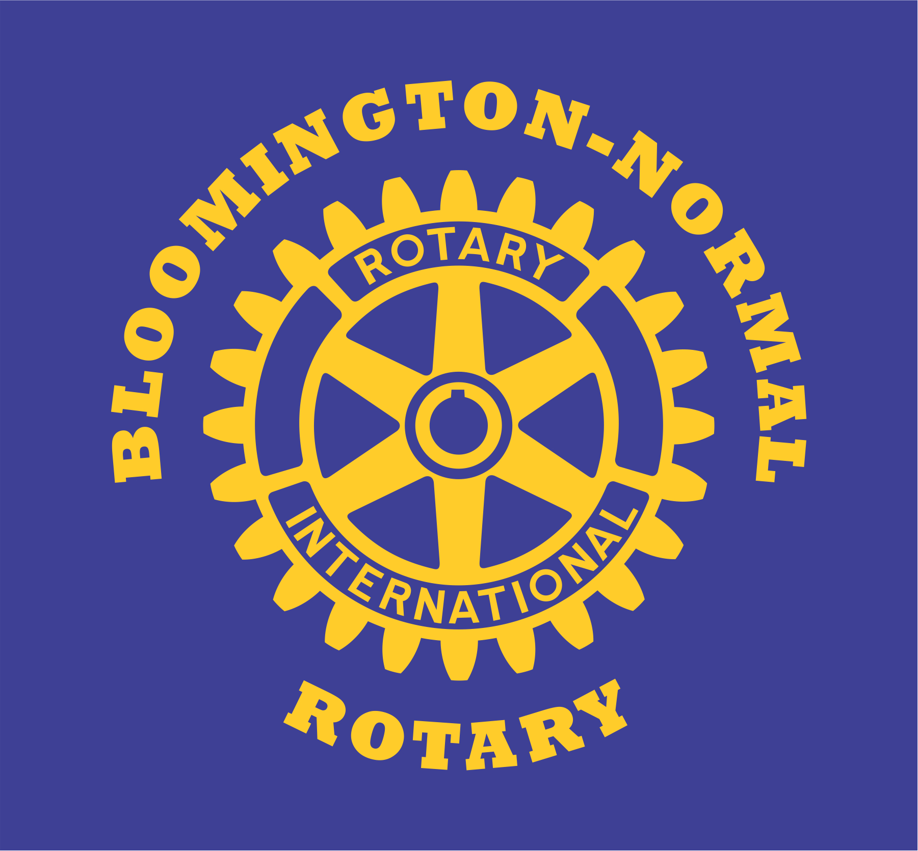 Bloomington-Normal Rotary Clubs logo